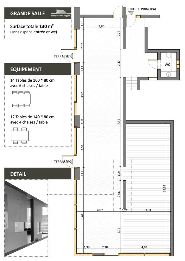 Plan vom großen Saal